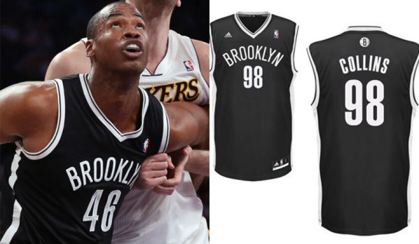 check out 9d8ed da7ef Nets' Jason Collins has the NBA's top-selling jersey - Los ...