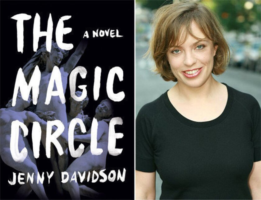 The cover of 'The Magic Circle' and author Jenny Davidson.