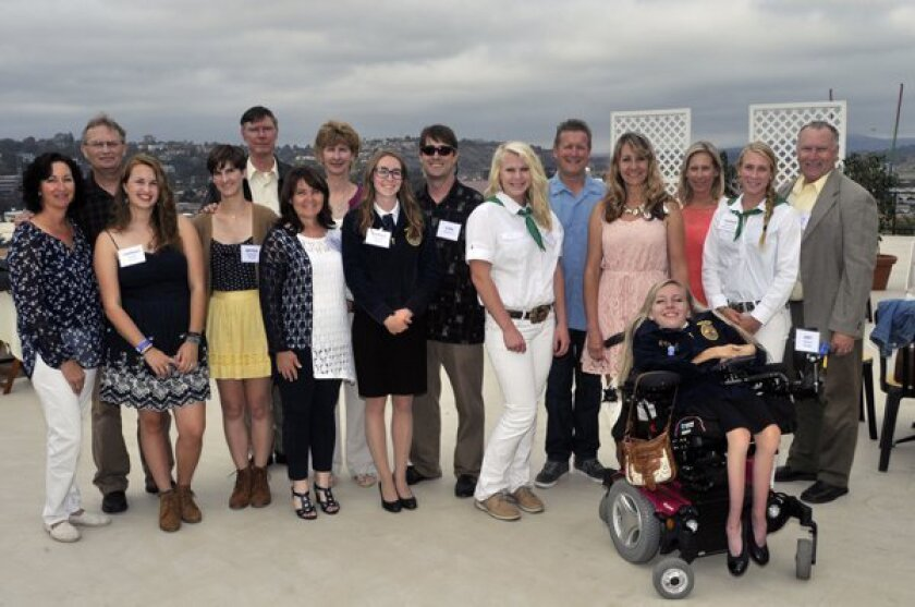 Last year's Don Diego scholarship recipients and their parents at the 2015 fundraising gala held at the Del Mar Fairgrounds Turf Club. McKenzie Images
