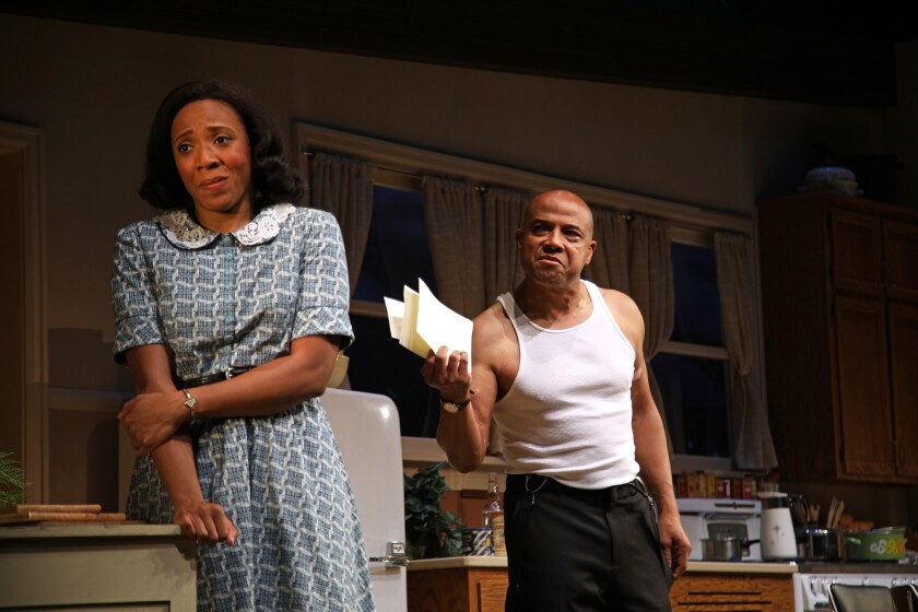"Christiana Clark and Lester Purry in Donja R. Love's ""Fireflies"" at South Coast Repertory."