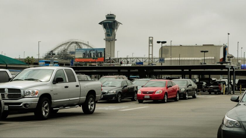 A parking lot at LAX on May 18, 2009.