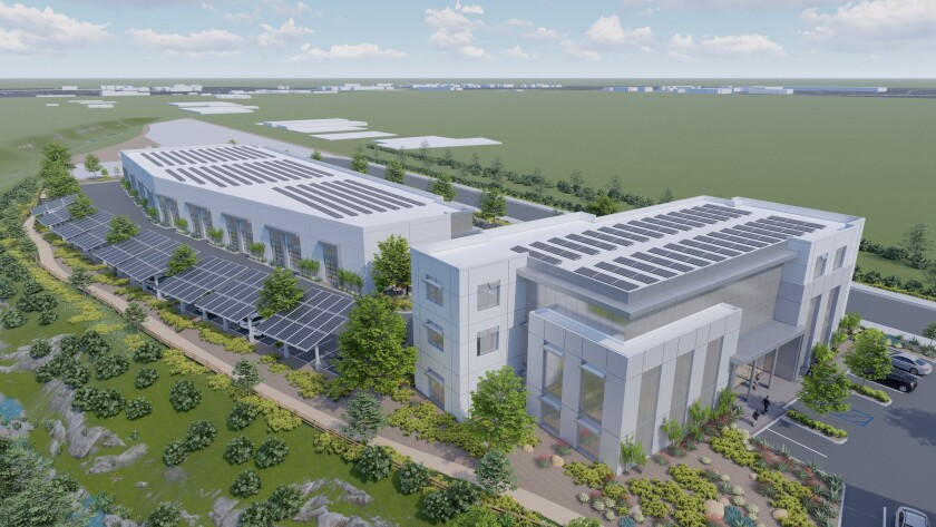 An artist's rendering of proposed San Diego Energy Equity Campus in Valencia Park