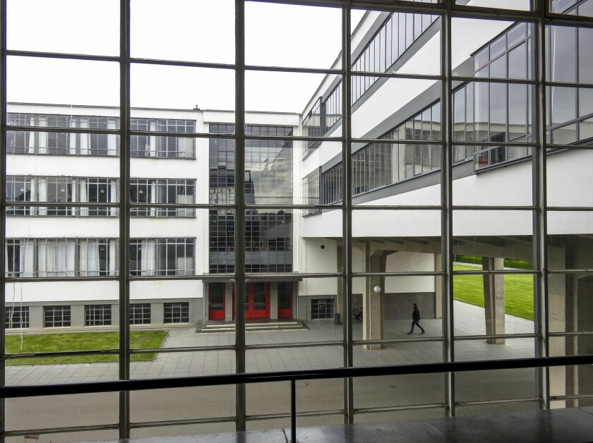 ONE TIME USE - *****PHOTO SLATED FOR TRAVEL - JUNE 16, 2019**** The original 1925 Bauhaus campus in