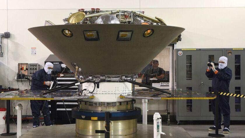 Mars InSight Lander at Vandenberg Air Force Base, USA - 06 Apr 2018