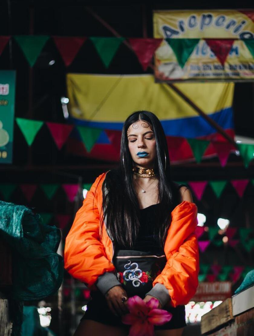"""Fotografía cedida donde aparece la cantante colombiana Steffi Crown quien participó en el evento """"Sonidos de Colombia"""" celebrado la noche del jueves 15 de marzo de 2018, en el festival South by Soutwest (SXSW) en Austin (Texas, EE.UU.). EFE/Criteria Entertainment/SOLO USO EDITORIAL/NO VENTAS"""