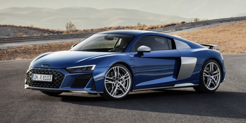 Audi gained another 30 horsepower from the R8's naturally aspirated 5.2-liter V-10 engine, lifting the total to 562 horsepower. It will be capable of 0-60 mph in 3.4 seconds with a top speed of 201 mph.
