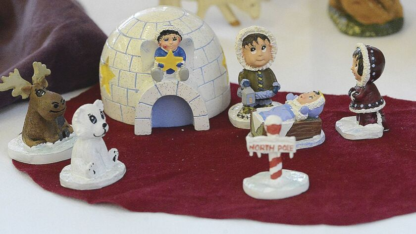 A North Pole-themed nativity scene was included among the 300-plus nativity scenes that were on disp