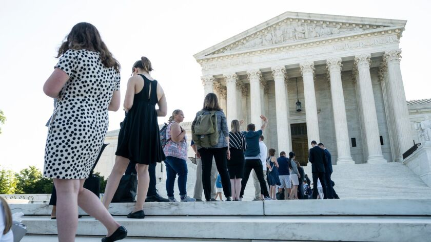 Supreme Court to rule on census, gerrymandering cases, Washington, USA - 26 Jun 2019