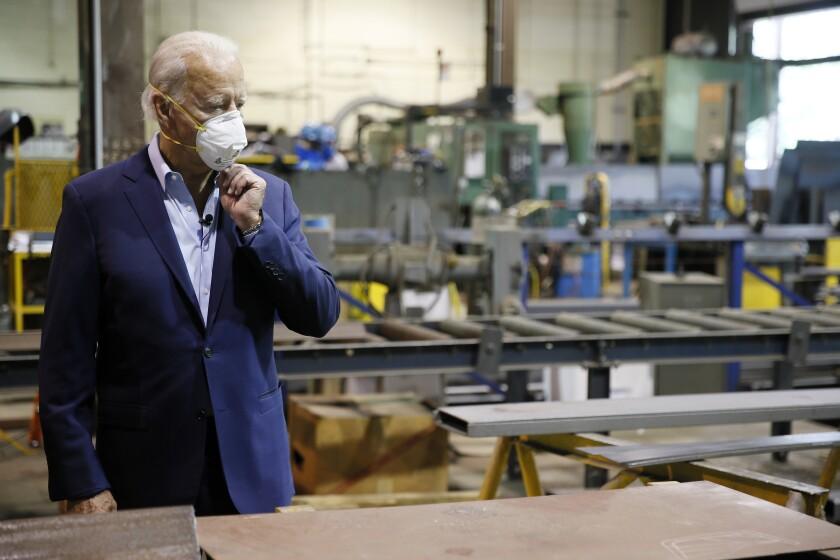El  virtual candidato demócrata a la presidencia Joe Biden