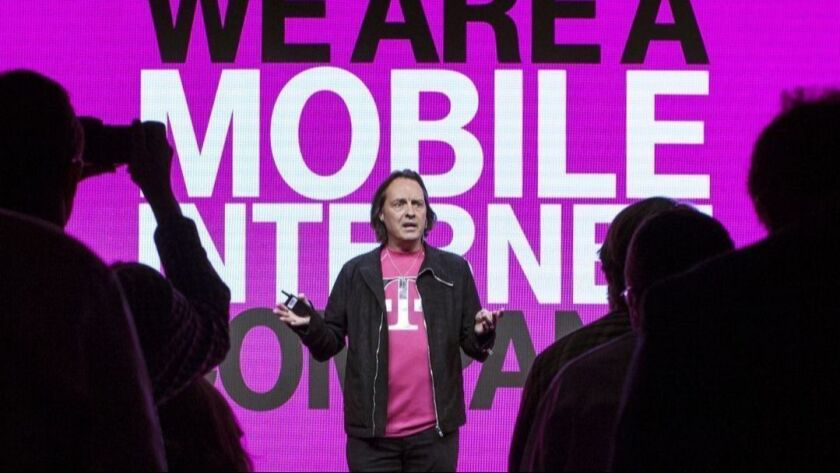 T-Mobile Chief Executive John Legere at a media event in San Francisco in 2014.