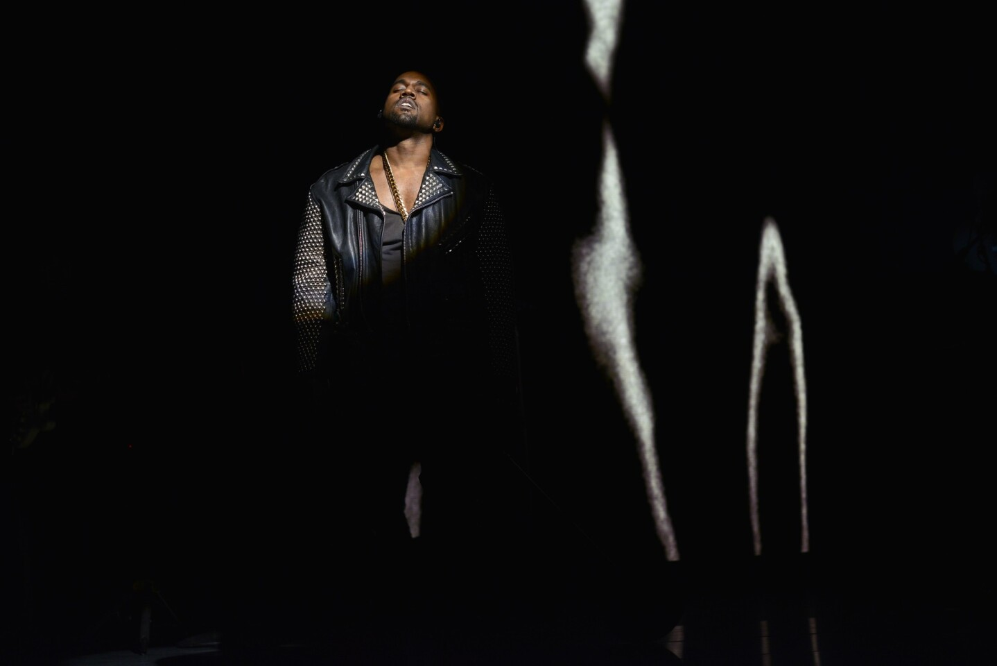 """A lightning rod for controversy throughout 2013, Kanye West was never more electric than his appearance on, of all places, """"Saturday Night Live."""" Dwarfed under stark projections of snarling hounds and wall-sized price tags, West howled through the frenzied drive of """"Black Skinhead"""" and compressed himself into a slow, furious burn for """"New Slaves."""" There was no more hype, no more """"Kimye,"""" and all that remained was a barbed provocation from one voice that swerved hip-hop into abrasive punk rock. Kanye wasn't just loud, maybe he really was saying something big enough to broadcast on buildings. Then, well, the album came out. — Chris Barton"""