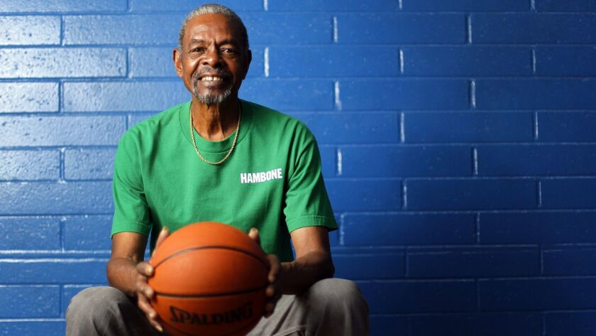 """Art """"Hambone"""" Williams was the 1959 Southern California Player of the Year while playing basketball at San Diego High and later played in the NBA. He is shown here at the Martin Luther King Recreation Center on Feb. 10, 2012."""
