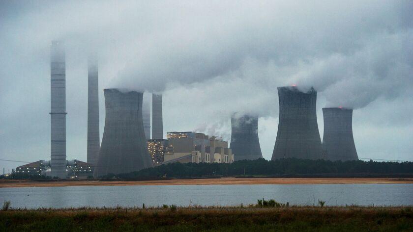 The coal-fired Plant Scherer is shown in operation on June 1, 2014, in Juliette, Ga.