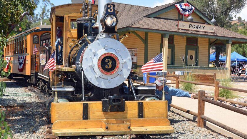 The Poway-Midland Railroad's historic steam locomotive.