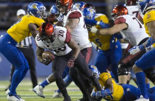 Aztecs rush for school-record 554 yards in 52-7 win over San Jose State