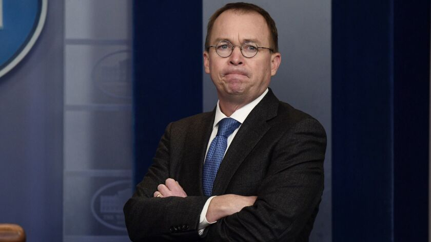 Mick Mulvaney is acting director of the Consumer Financial Protection Bureau.