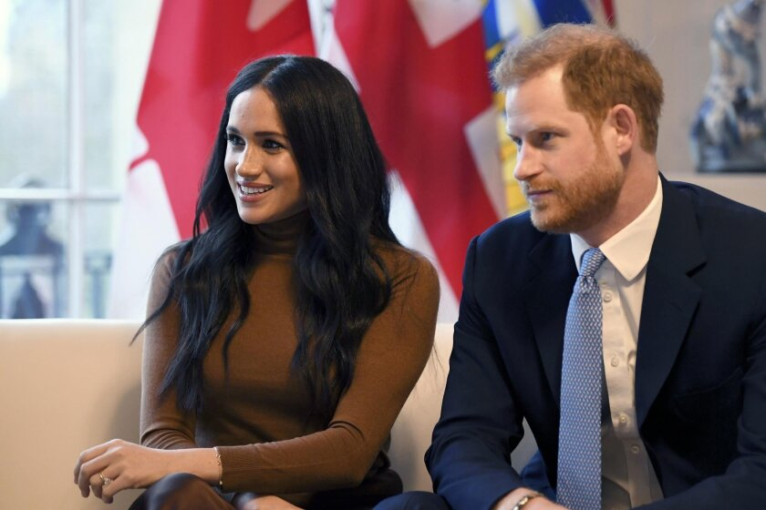 The Duchess of Sussex, the former actress Meghan Markle, and her husband, Britain's Prince Harry