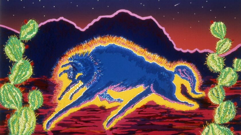 """Ricardo Gonsalves' """"Don Juan's Got the Blues"""" is among the pieces on display in the printmaking survey """"Self-Help Graphics, 1983-1991"""" at the Laguna Art Museum."""