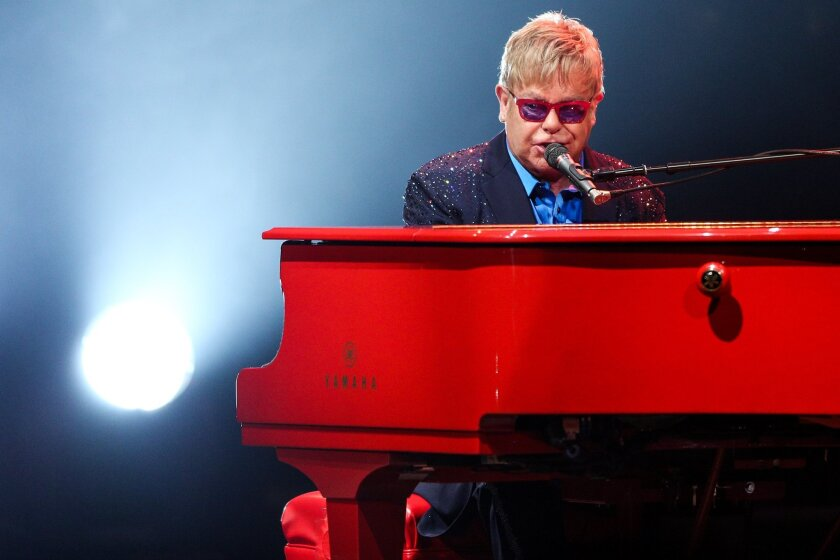 Elton John will play a live free show in West Hollywood.