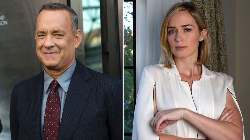 Tom Hanks and Emily Blunt