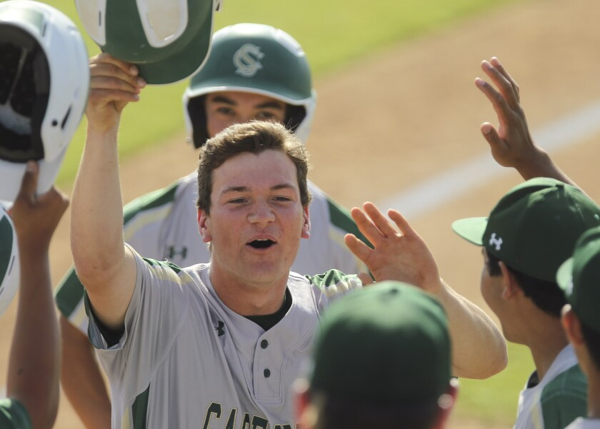 Sage Creek's Scott Anderson hit .405 with two home runs and 40 RBIs as a senior. He only struck out<QL> six times in 130 plate appearances. On the mound, Anderson was 7-2 with an 0.69 ERA and two saves.