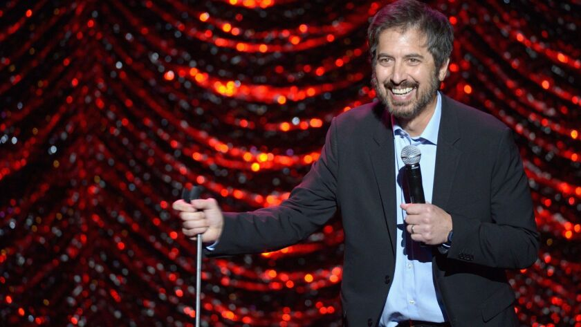 Ray Romano entertains the crowd at the 2016 International Myeloma Foundation's 10th annual Comedy Celebration. Romano, who has hosted the event nine times, is set to host this year's event, which is scheduled to return to the Wilshire Ebell Theatre on Saturday.