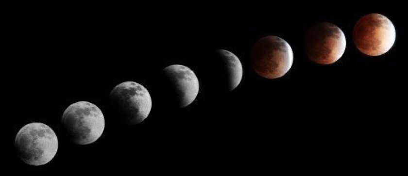 Lunar Eclipse of April 14, 2014. By Pearl Preis