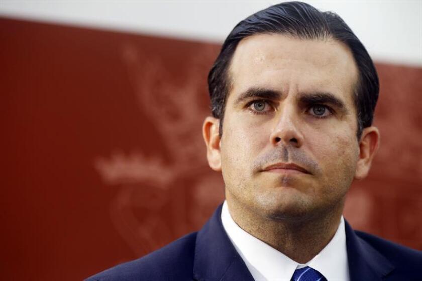 Fotografía del gobernador de Puerto Rico, Ricardo Rossello. EFE/Archivo