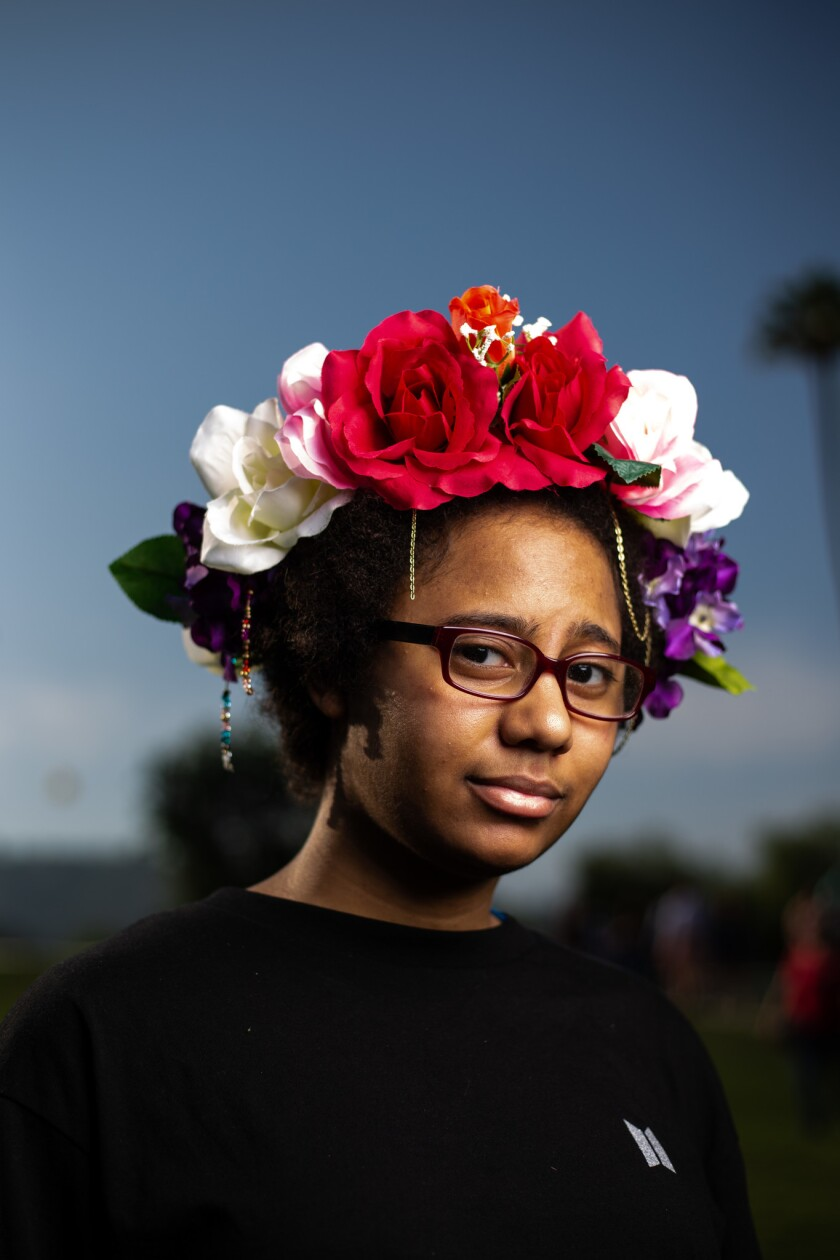 PASADENA, CALIF. - MAY 04: Tia Neal, 21, of Phoenix, AZ poses for a portrait before heading into The