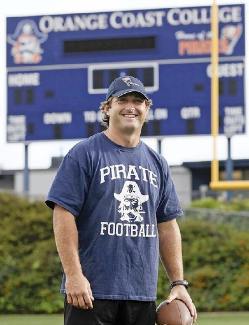 Matt Grootegoed, a former USC All-American linebacker, is the linebackers coach at Orange Coast College.