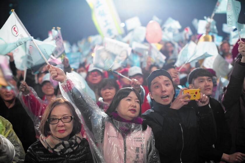 Campaign rally in Taiwan