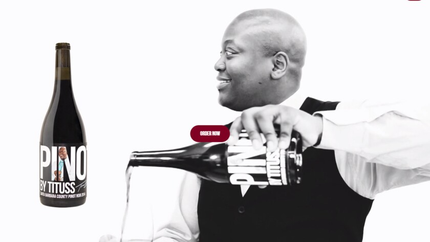 "Pinot by Tituss is a new wine by ""Unbreakable Kimmy Schmidt"" star Tituss Burgess."