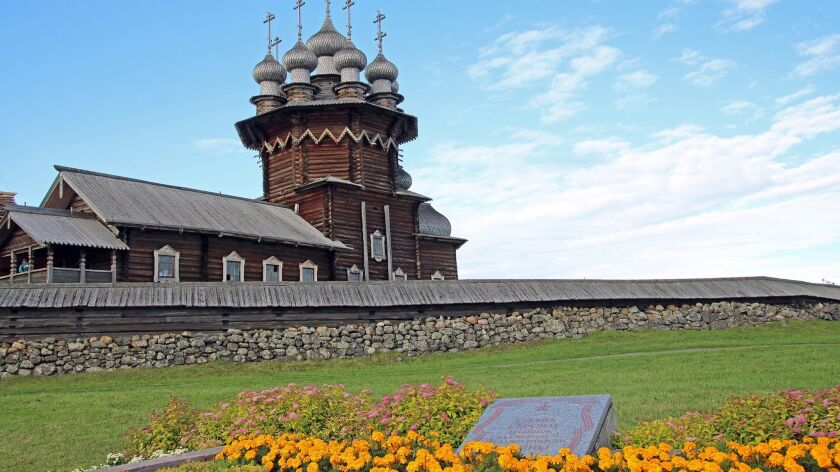This is one of the two UNESCO-listed churches on remote Kizhi Island, built totally of wood without