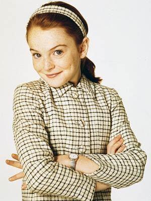 "Starring as Hallie Parker/Annie James in 1998's remake of ""Parent Trap."""