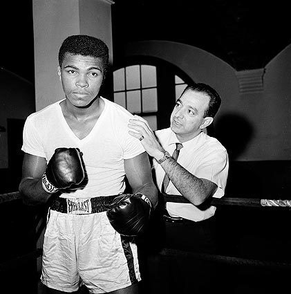 Muhammad Ali trains with Angelo Dundee at City Parks Gym in New York.