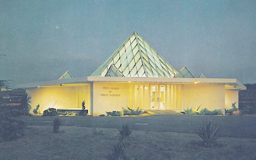The First Church of Christ, Scientist building shipped from New York to Poway following the 1964 New York World's Fair.