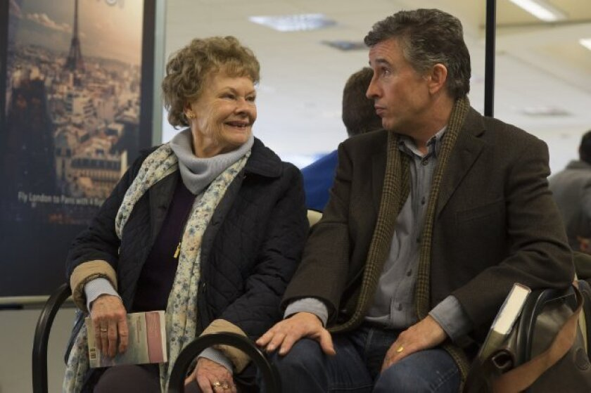 "Judi Dench, left, stars with Steve Coogan in ""Philomena."""