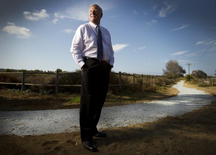 County Supervisor Greg Cox at Tijuana River Valley Regional Park.