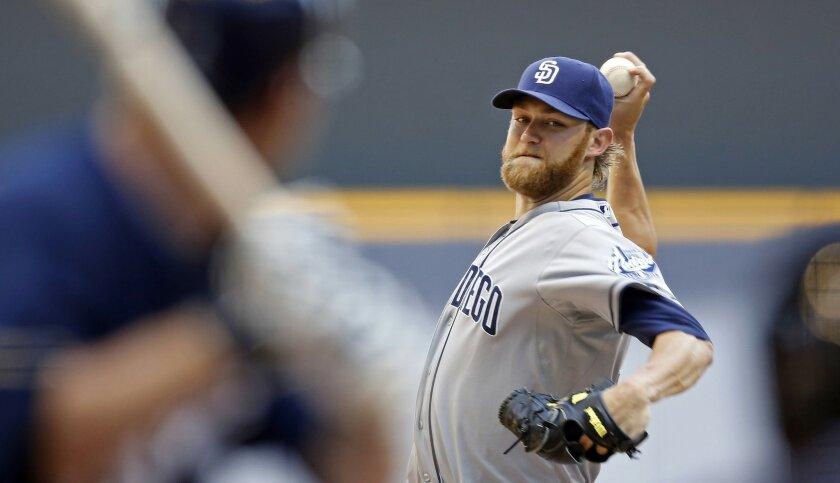 Padres starting pitcher Andrew Cashner.