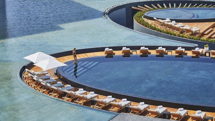 SAN JOSÉ DEL CABO, BAJA CALIFORNIA SUR, MEXICO - Main Pool at Viceroy Los Cabos hotel.