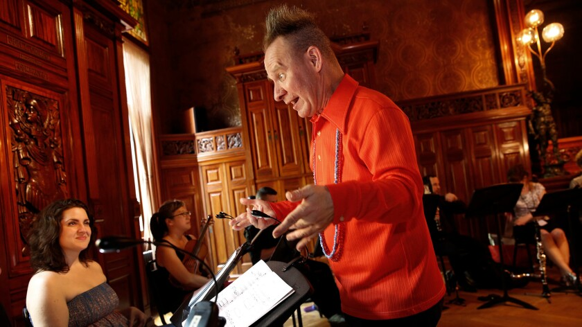 "Peter Sellars rehearses Claude Vivier's opera ""Kopernikus"" in New York for a performance at the upcoming Ojai Music Festival, where he is this year's music director."