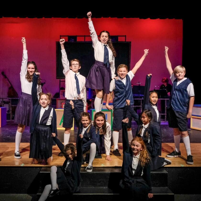 "A scene from Coronado Playhouse's ""Matilda."""