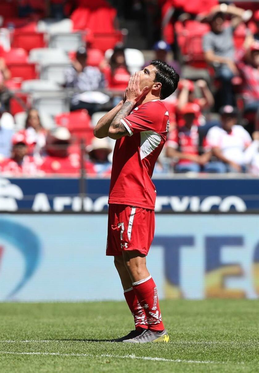 El jugador de Toluca Luis Mendoza. EFE/Archivo