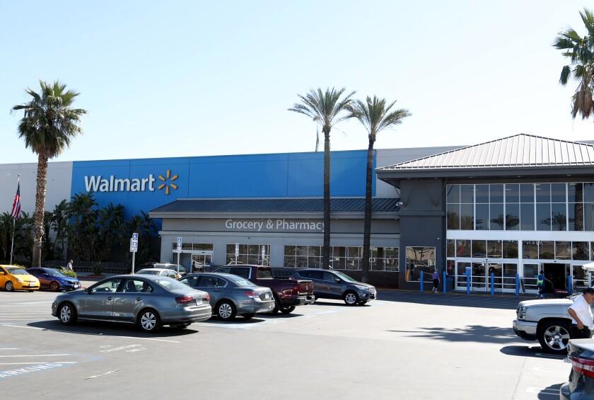 A Walmart store in Burbank.
