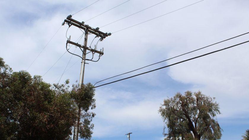 Overhead poles in Rancho Santa Fe.