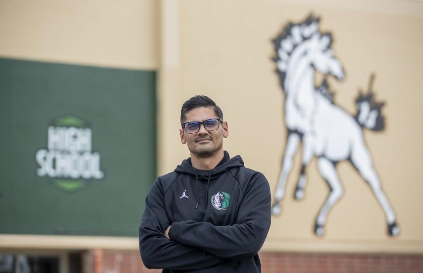 Jesse Mercado is the new boys' basketball coach at Costa Mesa High School.