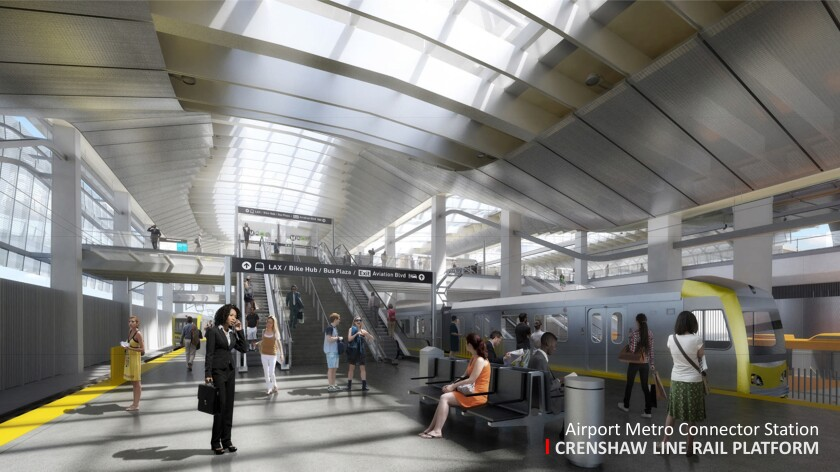 An artist's rendering of the Airport Metro Connector