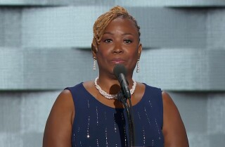Family of fallen police officers speak at the Democratic National Convention