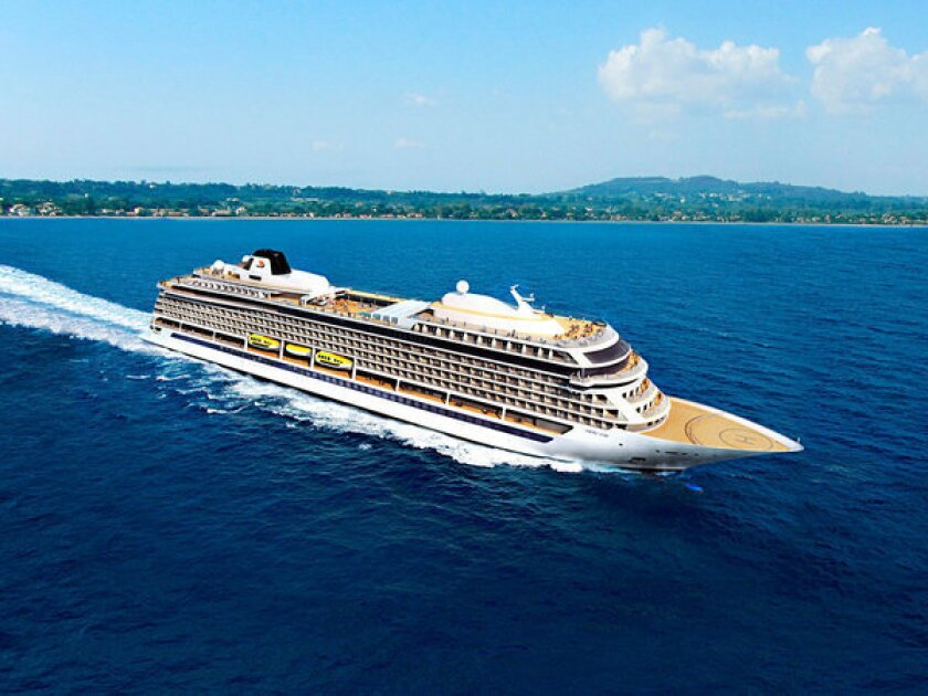 An artist rendering of the 928-passenger Viking Star, the new ocean liner from Viking Cruises. It will set sail in May 2015