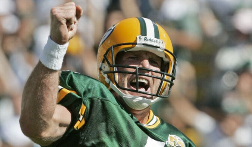 Quarterback Brett Favre, shown with the Packers in 2008, led Green Bay to 160 victories in 16 seasons.